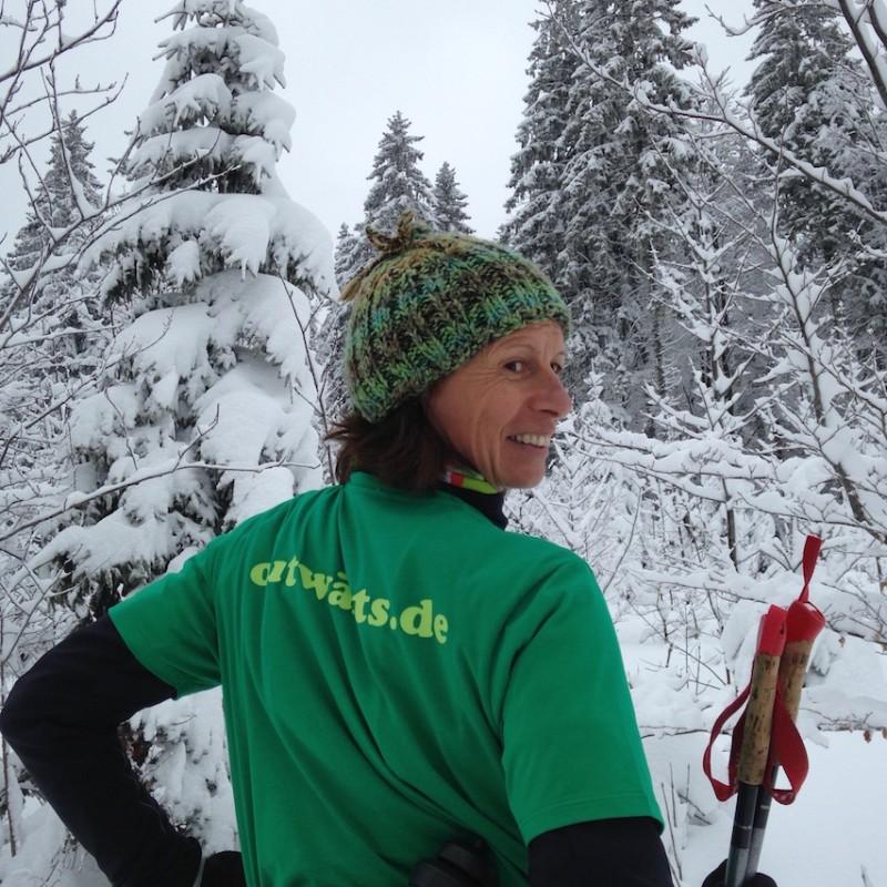 Andrea beim Langlauf